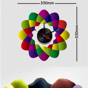 Sticker horloge  arabesques multicolores