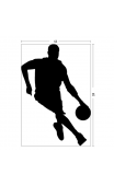 Sticker mural hand ball