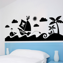 Sticker mural pirates