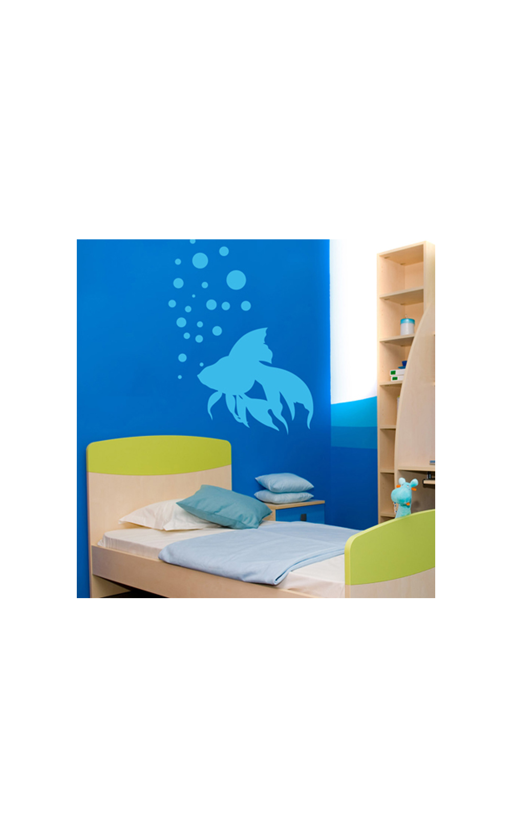 sticker mural pour d corer son int rieur petit prix mod le poisson japonais. Black Bedroom Furniture Sets. Home Design Ideas