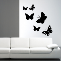 Sticker mural six papillons