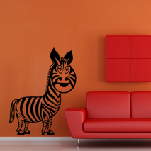 Sticker mural zebre