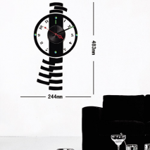 Sticker horloge  mega montre