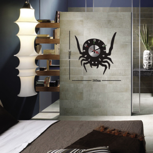 Sticker horloge  spider clock