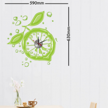 Sticker horloge lemon clock