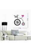 Sticker horloge romantic velo