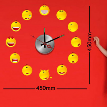 Sticker horloge smileys