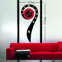 Sticker horloge virgule