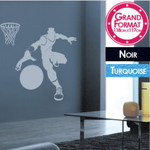 Sticker mural  basket panier