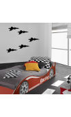 Sticker mural avion de chasse
