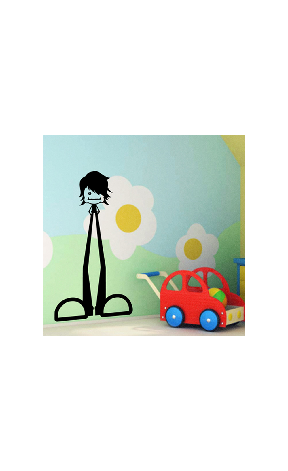 sticker mural pour d corer son int rieur petit prix mod le bonhomme. Black Bedroom Furniture Sets. Home Design Ideas
