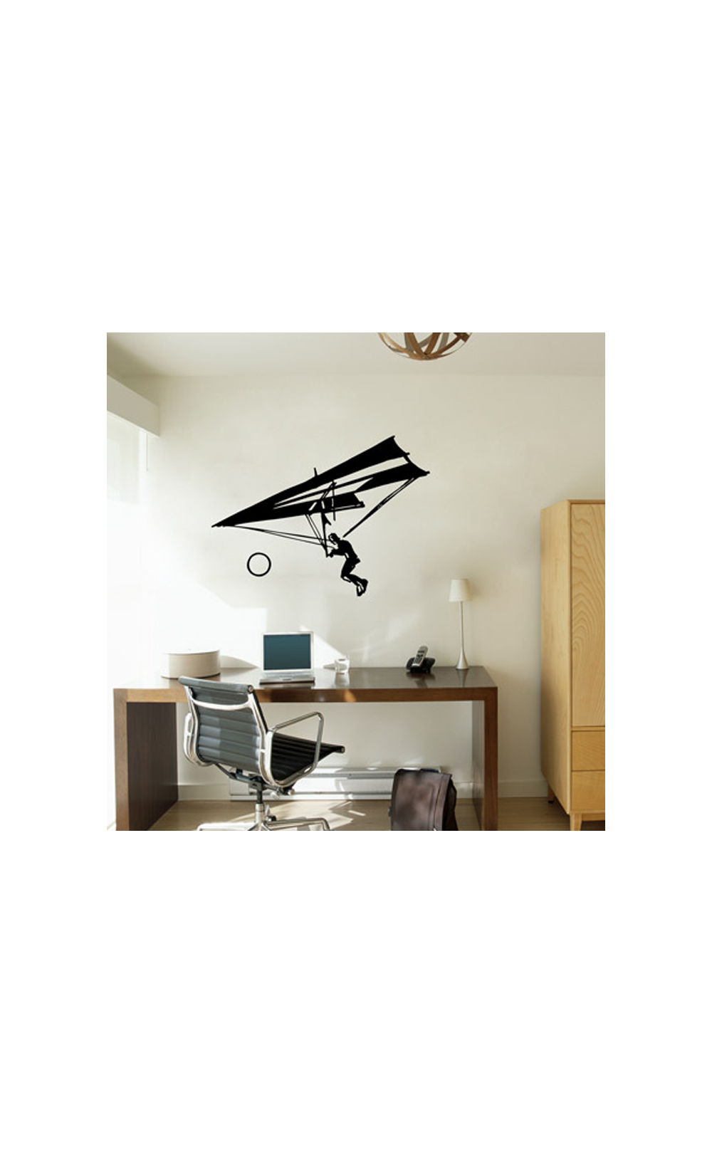sticker mural pour d corer son int rieur petit prix mod le deltaplane. Black Bedroom Furniture Sets. Home Design Ideas